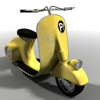 3d old scooter model