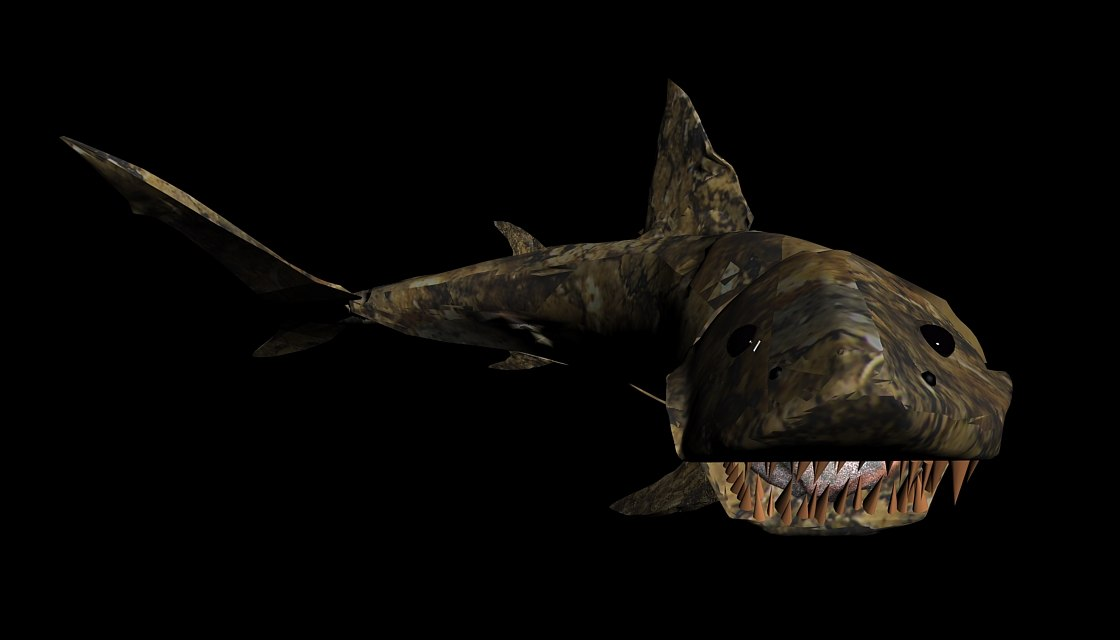 fossils shark obj free