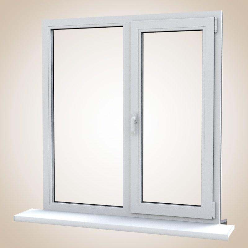 3d model pvc window balcony door for Door 3d model