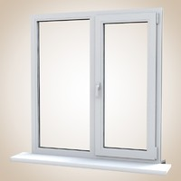 Modern PVC profile window