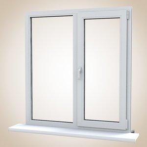 3d model pvc window balcony door