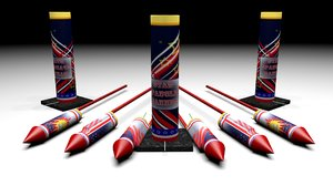 3d model fireworks