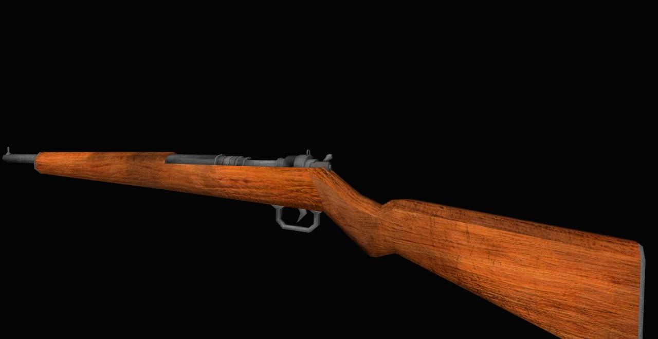 3d model m14 rifle