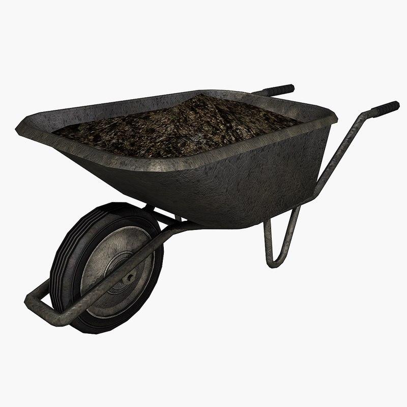 3ds max wheelbarrow