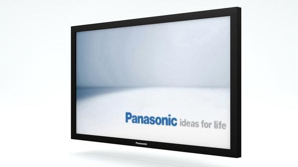 3d model 103 panasonic plasma tv
