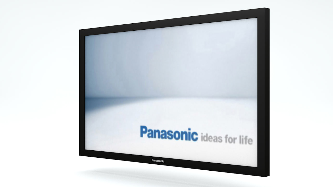 3d model 103 panasonic plasma tv