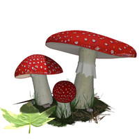 amanita muscaria 3d model