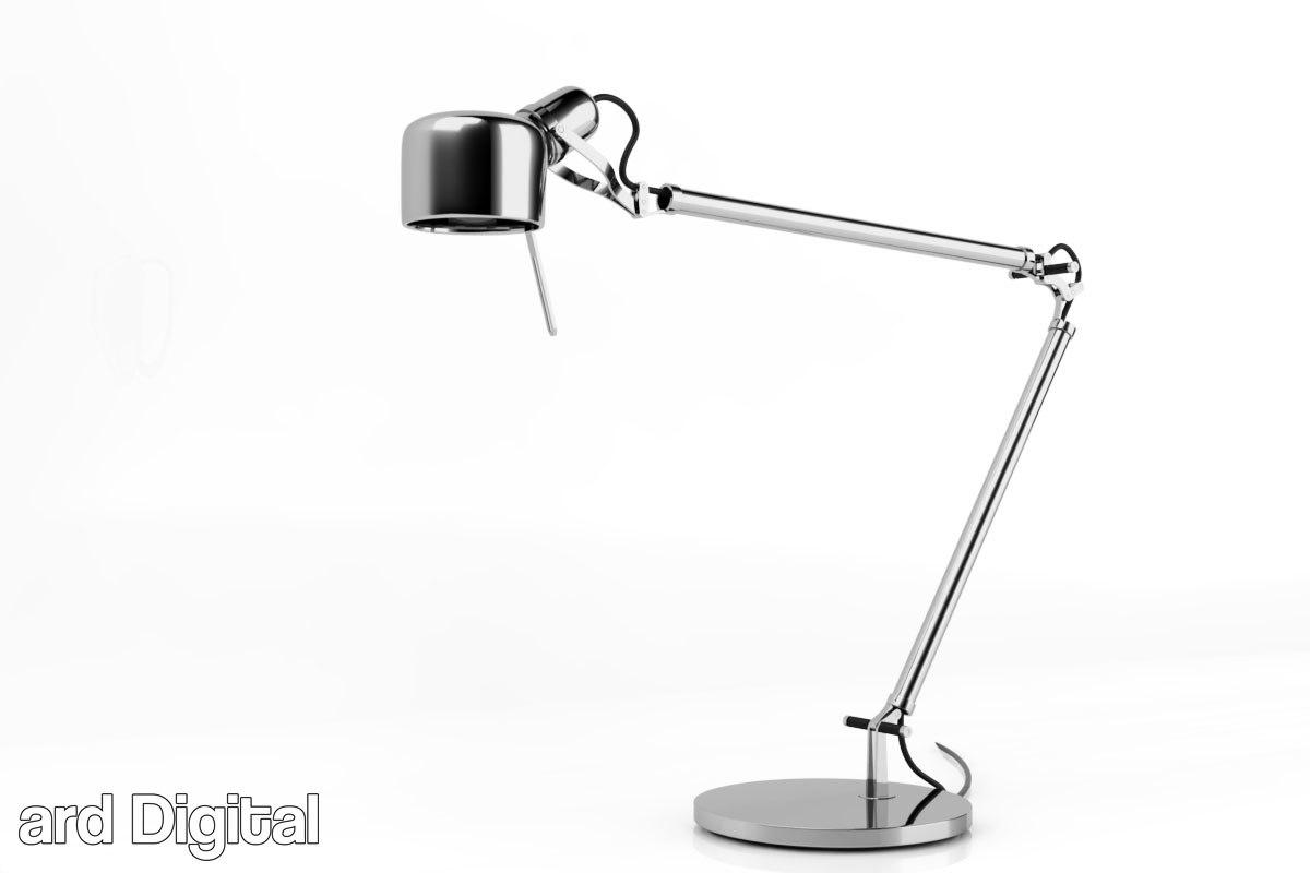 3d obj desk lamp - job
