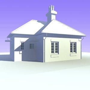 bungalow house unit 6 3d model