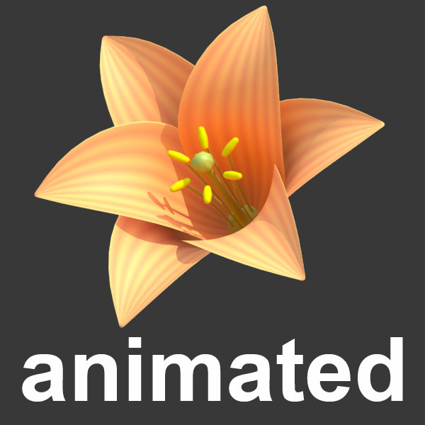 3d stylized blossom