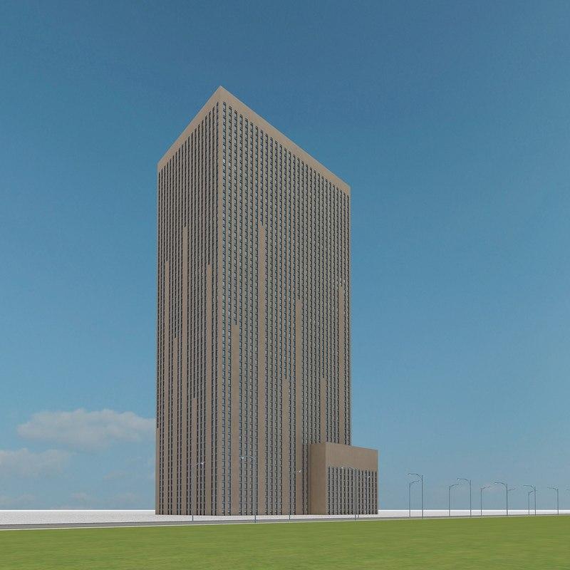 new skyscraper 72 3d model