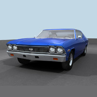 3d model of chevelle 1968 ss