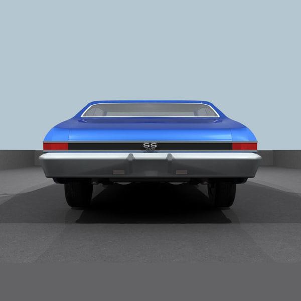 3d model of chevelle 1968 ss