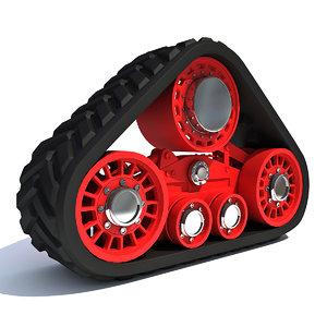 3d crawler track model