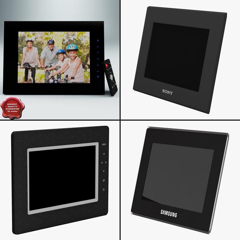 3d digital photo frames model