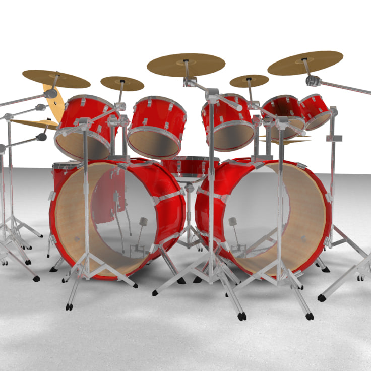 3d drums percussion kit