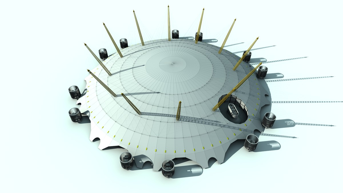 3d o2 arena dome london model