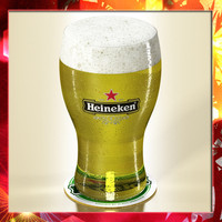 3d heineken pint beer -