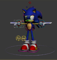 3d model sega sonic rigged