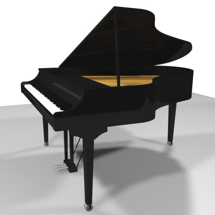 3d grand piano