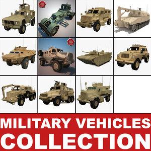 military vehicles v2 3d model