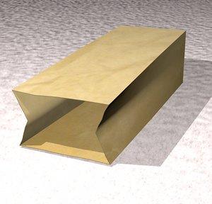 3d paperbag shopping model