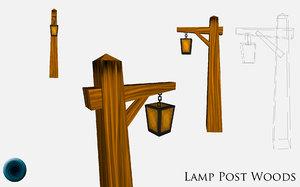 lamp post 3d obj