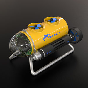 underwater rov 3d model
