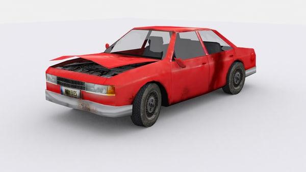 3d car zombie model