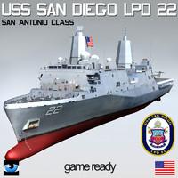 USS San Diego LPD-22 with OSPREY & LCAC