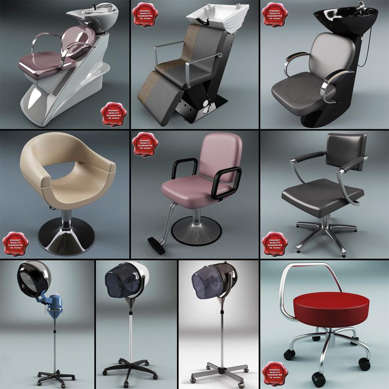 3ds salon chair