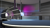 3d space station tv studio model
