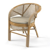 wicker outdoor chair 3d model