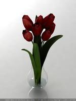 tulip flower 3d max