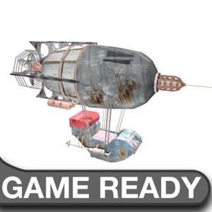 3ds max steam punk airship