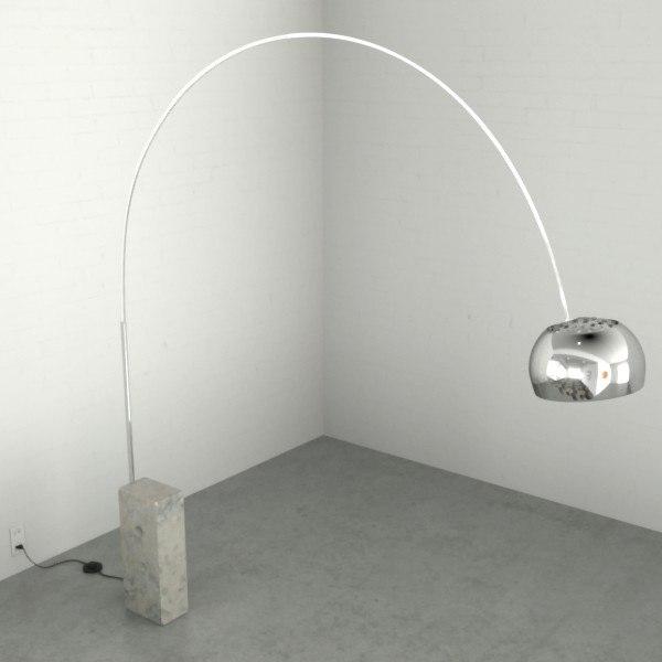 3d arco lamp model