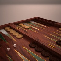 3d model backgammon