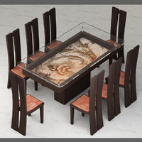 italian furniture design table and chairs