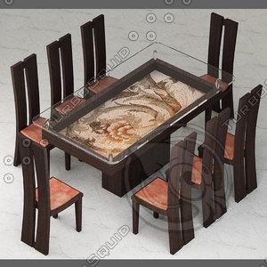 3d model italian modern furniture design chair