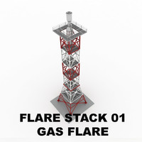 Flare stack (gas flare) 01