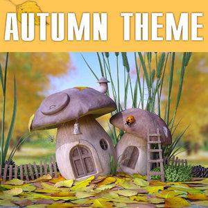 3d fairy autumn