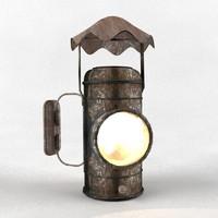 3d model lamp old
