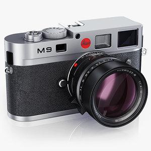 photo camera leica m9 3d 3ds