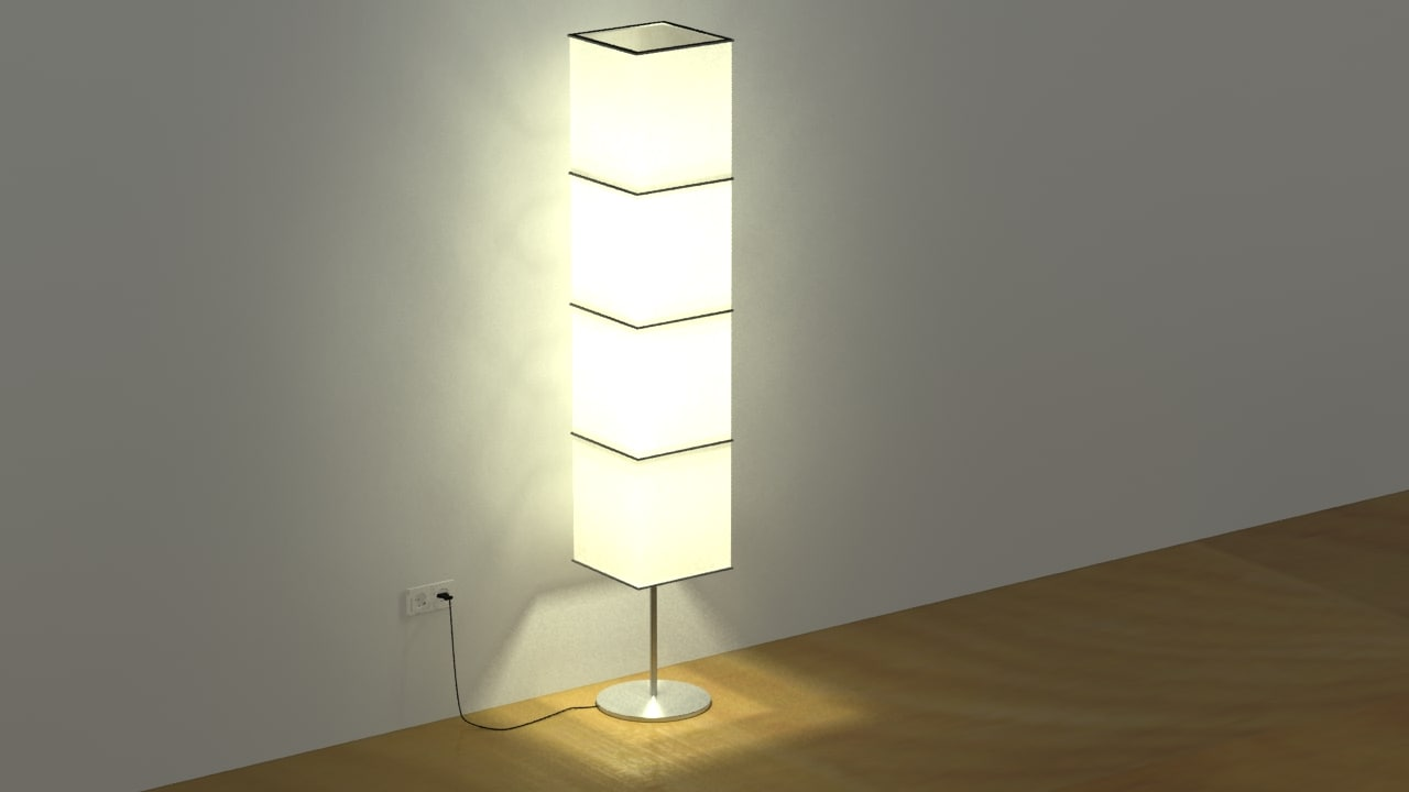 3d floor lamp plug
