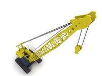 crawler-crane 3d max