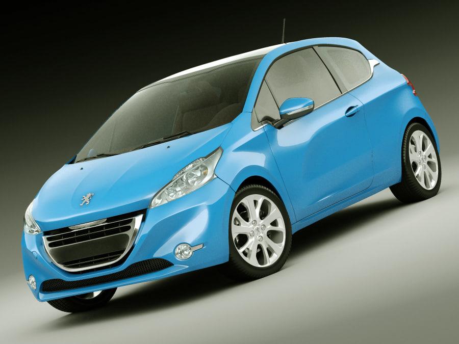 3d model 3 car
