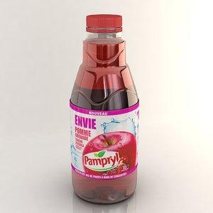 juice bottle 3d max