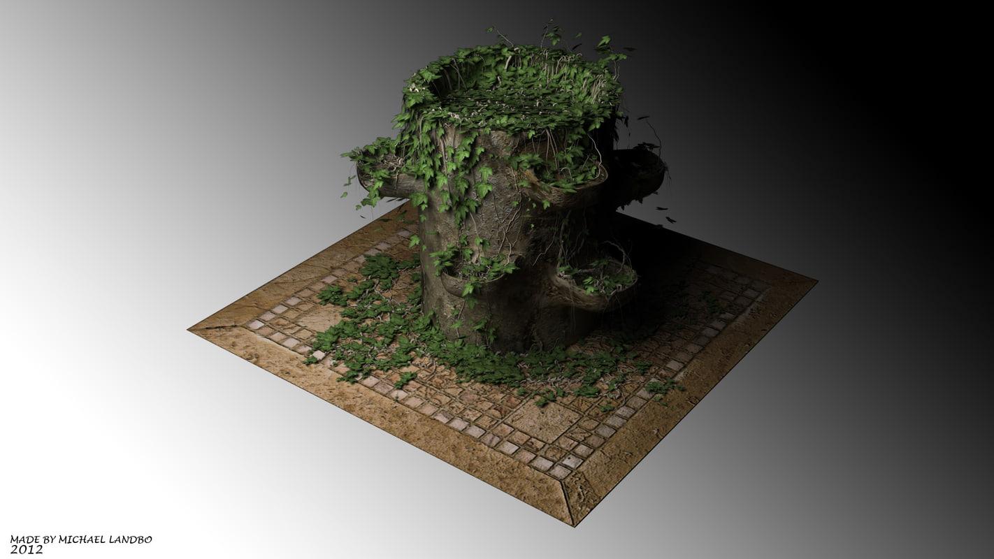 ivy plant pot obj