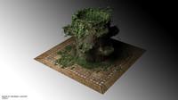 3D Ivy plant pot