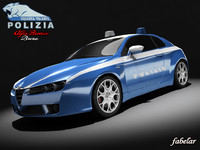 3d model of alfa romeo brera polizia
